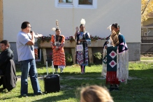 Introducing the dancers who accompanied the drum group, the Starblanket Jrs!