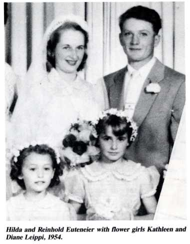 Reinhold & Hilda, 1954 marriage