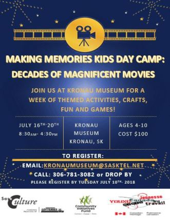 Movie Week Day Camp Poster